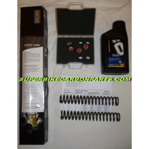 KIT OHLINS MODIFICA FORCELLA:POMPANTI + MOLLE + OLIO